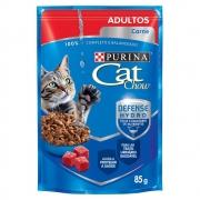 Ração Nestlé Purina Cat Chow Adultos 7+ Sachê Carne ao Molho