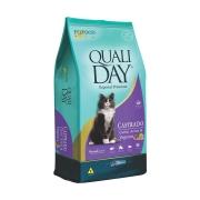 Ração Qualiday para Gatos Adultos Castrados Sabor Carne