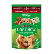 Ração Úmida Dog Chow Sabor Carne para Cães Adultos - 100 g