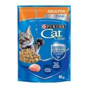 Ração Úmida Nestlé Purina Cat Chow para Gatos Adultos sabor Frango 85 g