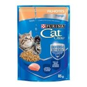 Ração Úmida Nestlé Purina Cat Chow para Gatos Filhotes sabor Frango 85 g