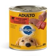 Ração Úmida Pedigree Lata Patê de Carne para Cães Adultos - 280 g