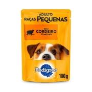 Ração Úmida Pedigree Sachê Cordeiro ao Molho para Cães Adultos de Raças Pequenas 100 g