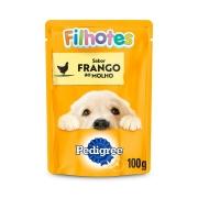 Ração Úmida Pedigree Sachê Frango ao Molho para Cães Filhotes 100 g