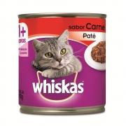 Ração Úmida Whiskas Lata para Gatos Adultos Sabor Carne - 290 g