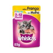 Ração Úmida Whiskas Sachê para Gatos Filhotes Sabor Frango ao Molho - 85 g