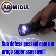 Lanterna de Choque Taser T�tica 1000KV Recarregavel coldre carregador defesa pessoal (PLUS)