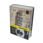 Livro Cofre 2 Chaves Aco  Seguranca Dinheiro Joias Documentos Chaves Objetos Valiosos (90534)