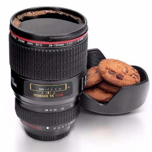 Caneca Termica em Formato de Lente Fotografica Copo Camera (D2244)