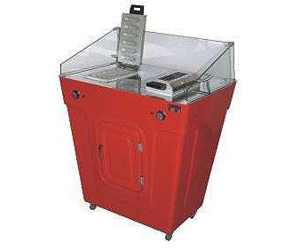 Máquina de Crepe Crepeira Dupla com Gabinete