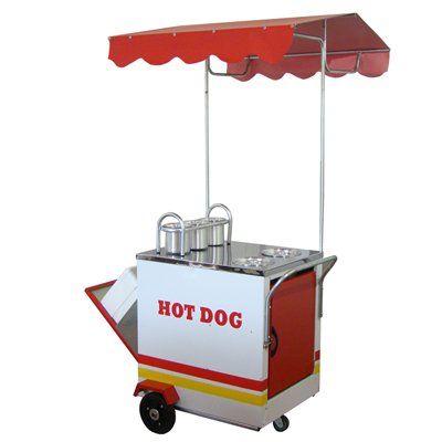 Carrinho de Cachorro Quente e Bebidas Compacto