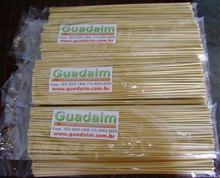 Palito Vareta de Bambu para Crepe de 25cm - Pacote com 1000
