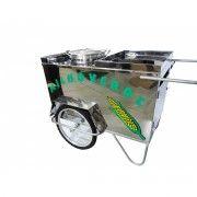 Carrinho de Milho Verde em A�o Inox Alsa
