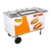 Carrinho de Hot Dog, Lanches e Cachorro Quente CH4 Alsa