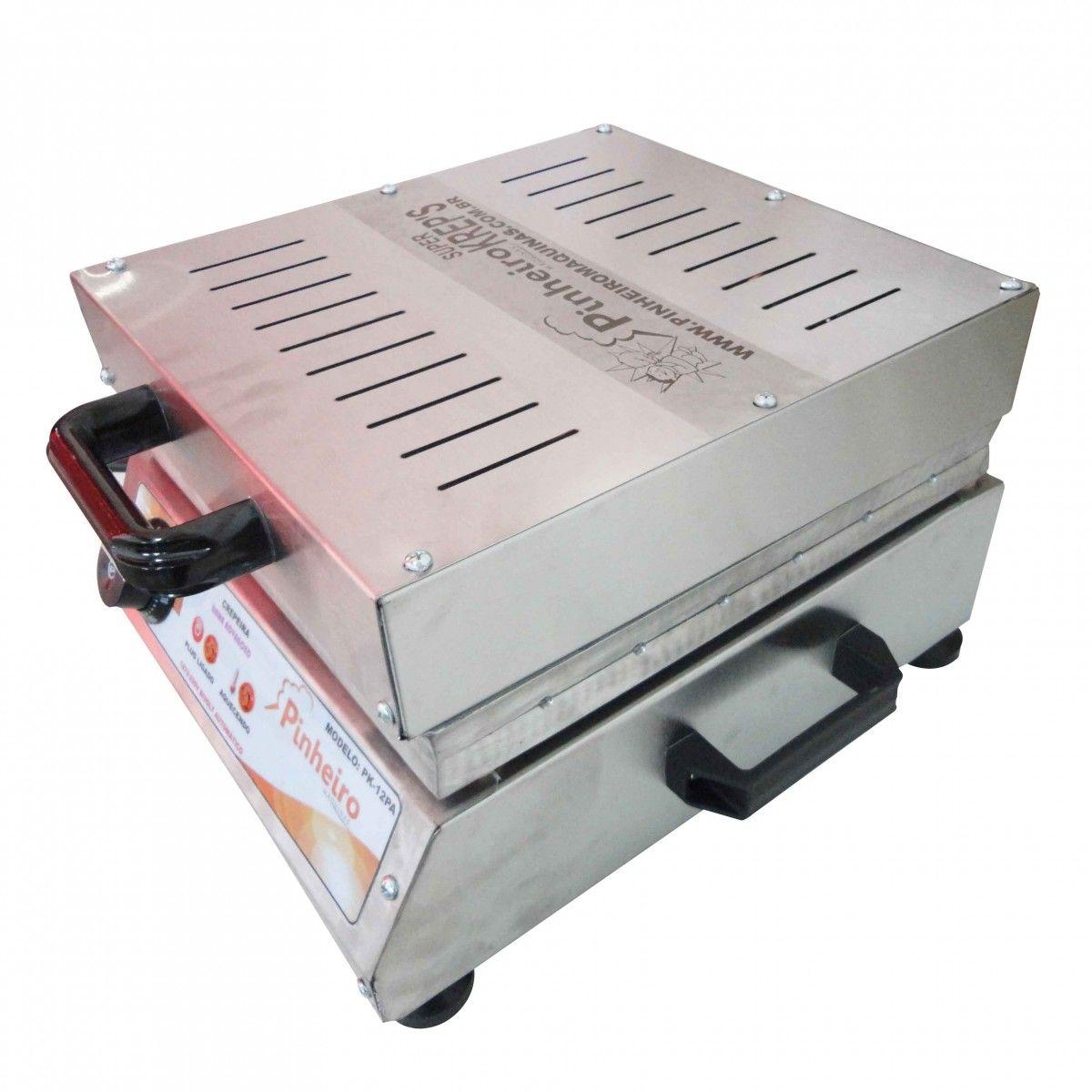 Maquina de Crepe Crepeira Elétrica de 12 Cavidades + Brinde