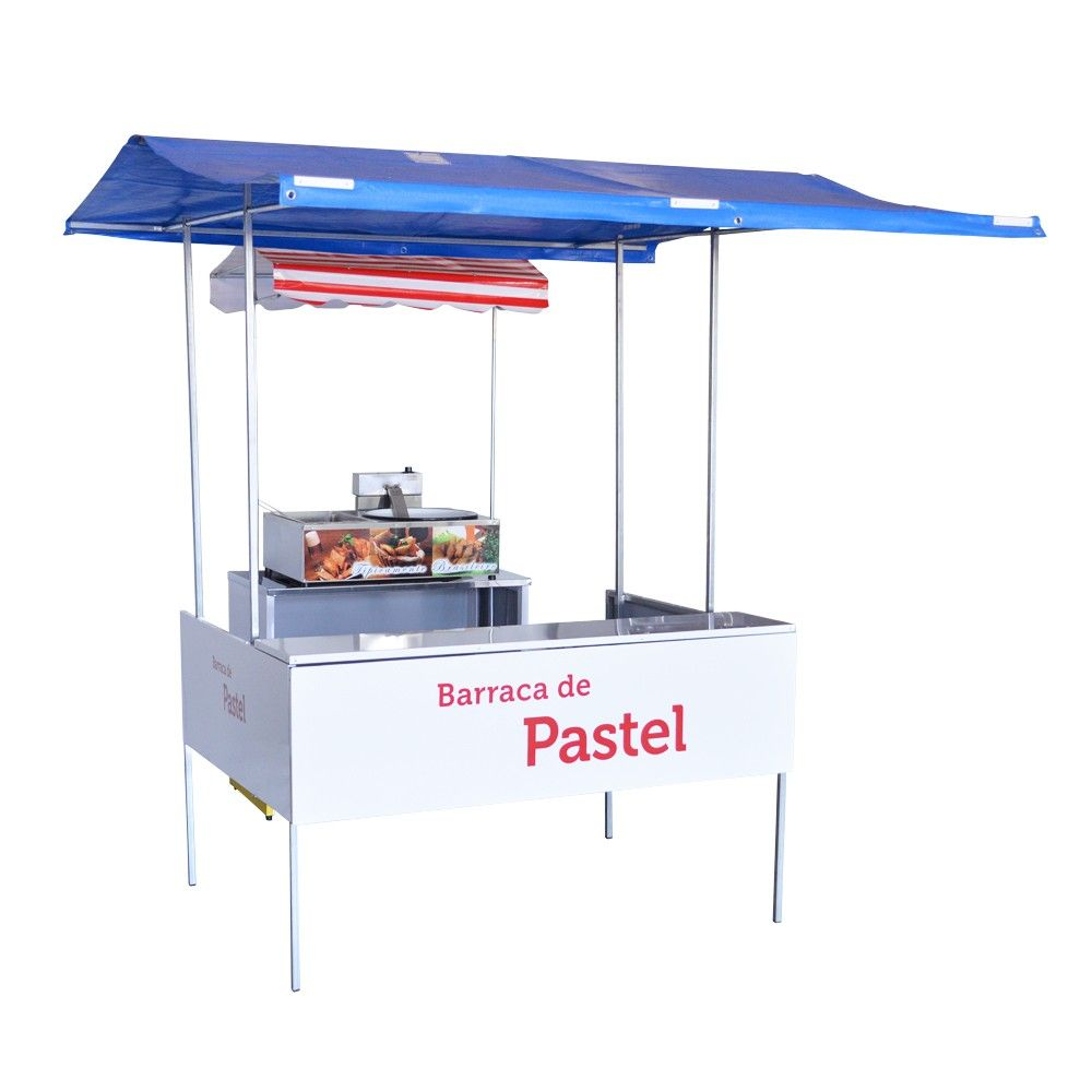 Barraca de Pastel com Fritador Elétrica Completa