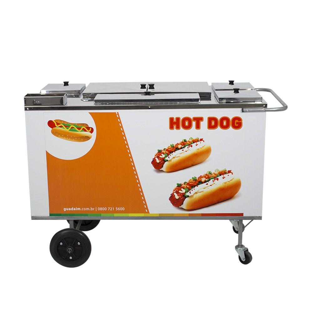 Carrinho de Hot Dog, Lanches e Cachorro Quente CH3 Adesivado Alsa