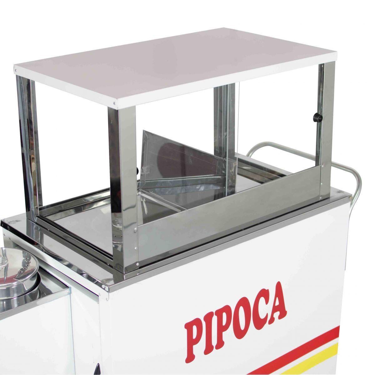 Carrinho de Pipoca Doce e Salgada a Gás com Roda Pneumática