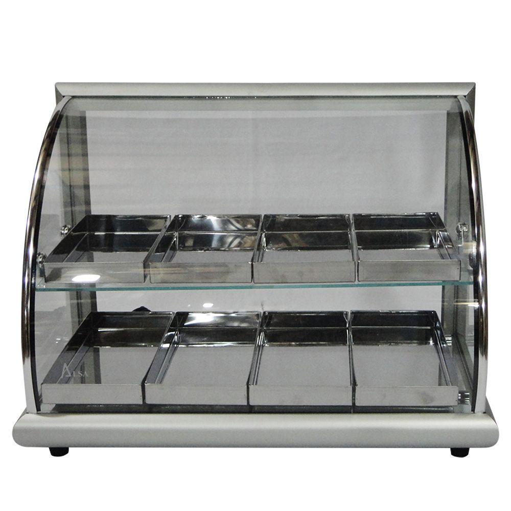 Estufa de Salgados com 8 Bandejas em Alumínio Anodizado.