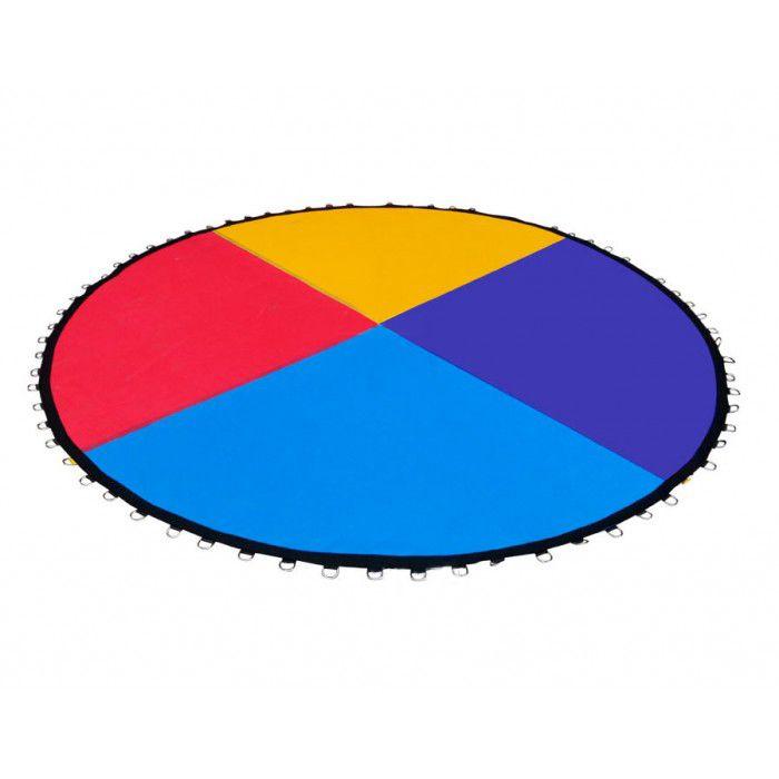 Lona de Salto Colorida para Cama El�stica de 2,44m para 48 molas