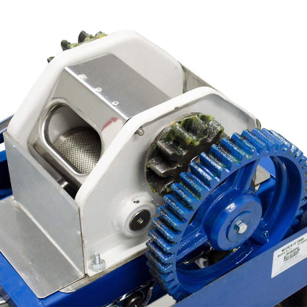 Moenda de Cana Motor a Gasolina Partida Elétrica B-721 TURBO Inox