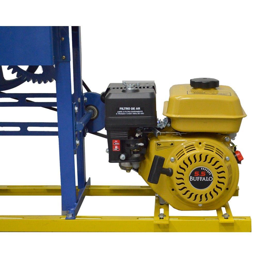 Moenda de Cana Motor a Gasolina Partida Manual B-721 TURBO Inox