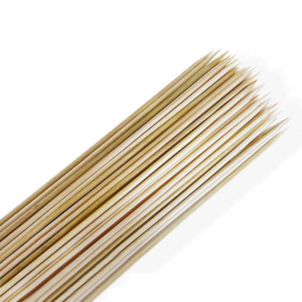Palito Vareta de Bambu para Espetinho de 30cm Pacote com 500