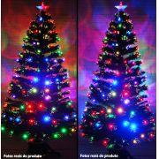 �rvore de Natal 1,20 Mts. com Fibra �tica - 125 Galhos e Leds Coloridos