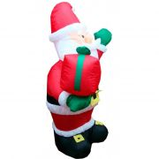 Inflável Boneco Papai Noel com Saco de Presentes - 2,40 Mts - Magazine Legal