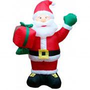 Infl�vel Boneco Papai Noel com Saco de Presentes - 3,00 Mts