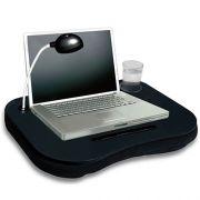 Mesa Apoio de Notebook 10 Almofadada WMT6123V Porta Copo, Caneta e L�mpada 8 Leds
