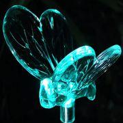 Lumin�ria Solar para Jardim em PVC Abelha 1381 2 Pe�as