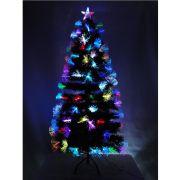 �rvore de Natal Luxo 1,50m Fibra �tica c/Efeitos 16000 pontos bi-volt 1251