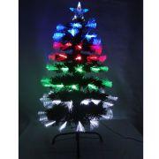 �rvore de Natal Luxo 90cm Fibra �tica Program�vel 8500 pontos bi-volt 1295