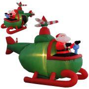 Helicóptero Inflável Decoração de Natal 1,50m de Altura Iluminado BiVolt CBRN0609 CD1563