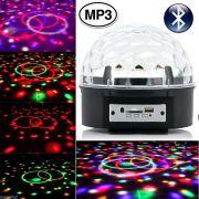 Bola Maluca Led Rgb MP3 Bluetooth Projetor Holográfico Magic Ball Light WMTDS2745