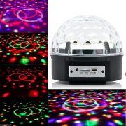 Bola Maluca Led Rgb MP3 Projetor Holográfico Magic Ball Light YCZ001