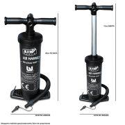 Bomba de Inflar Manual Double Quick 48cm Preto CBRN1095