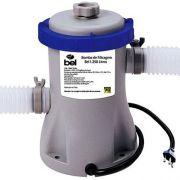 Bomba Filtrante Piscina Bel Life 220V com Filtro 1250 Litros hora mod 1145 para piscinas Mor, Capri,