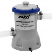 Bomba Filtrante Piscina Capri 220V com Filtro 1250 Litros hora para piscinas Mor, Intex e Bestway es