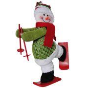 Boneco de Neve de Pel�cia com Esqui com 30cm de Altura CBRN0319 CD0047