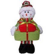 Boneco de Neve de Pel�cia com Presentes com 35cm de Altura CBRN0333 CD0050