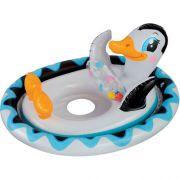 Bote Inflável Infantil Pinguim BabyBote Bóia Intex 59570 - 77 cm x 58 cm
