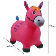 Brinquedo Cavalinho Pula Pula Infl�vel com Som e Led WMTDS787 Rosa
