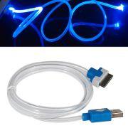 Cabo Iphone 4 Dados e Carregador com LED WMTCB4GLED Azul 95cm