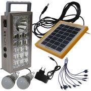 Carregador Solar Multifunção com Lanterna Carregadora WMTLL81566