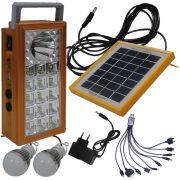 Carregador Solar Multifunção com Lanterna Carregadora Dourado WMTLL81566