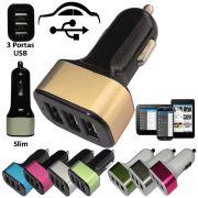 Carregador veicular 3 entradas USB 12V/24V 6.3A CBRN01415