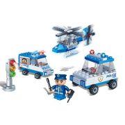 Brinquedo Carro da Polícia com 110 Peças em Blocos de Montar CBRN0883