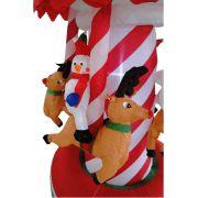 Carrossel Infl�vel Decora��o de Natal 1,50m de Altura Iluminado BiVolt CBRN0593 CD1562